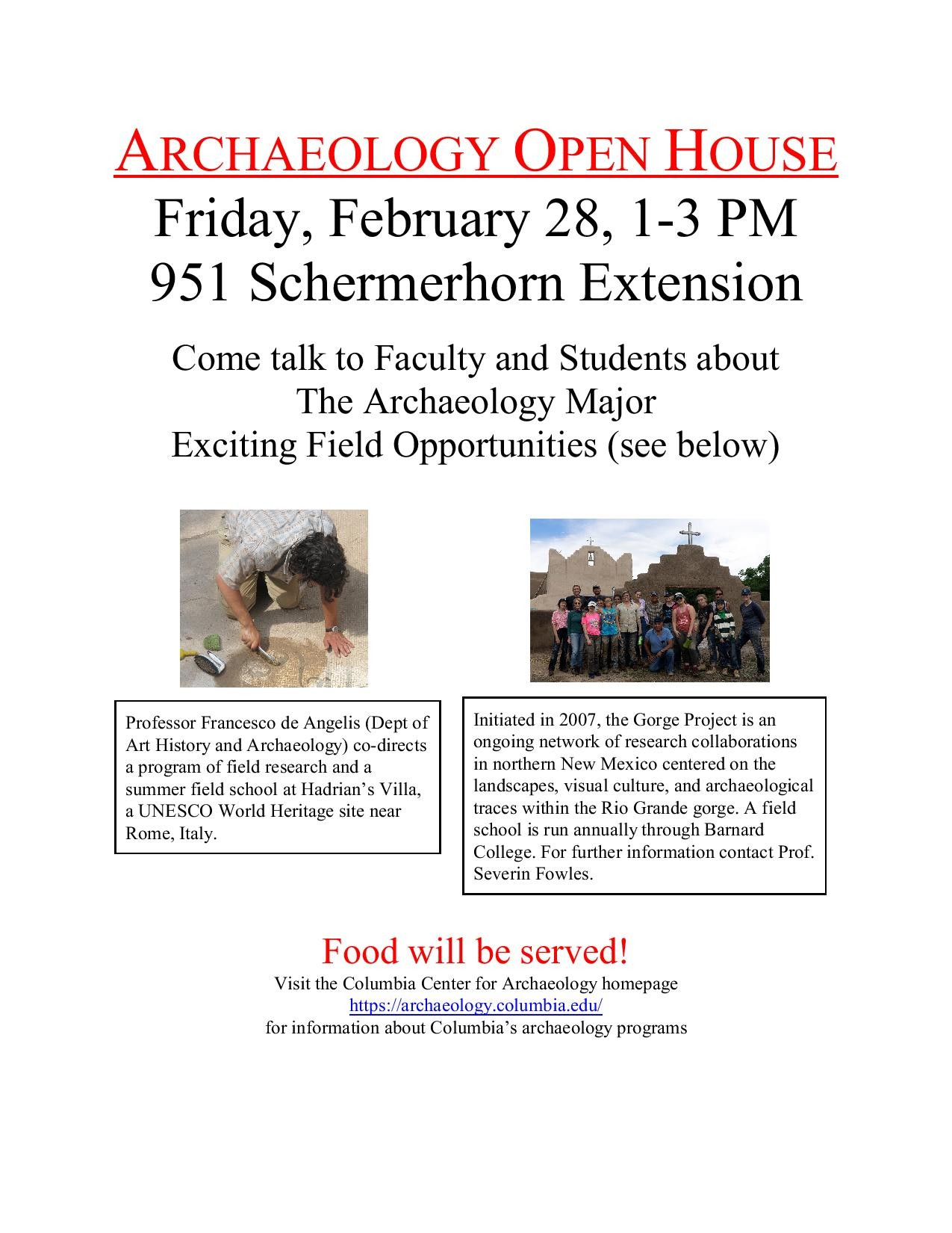 Archaeology Open House