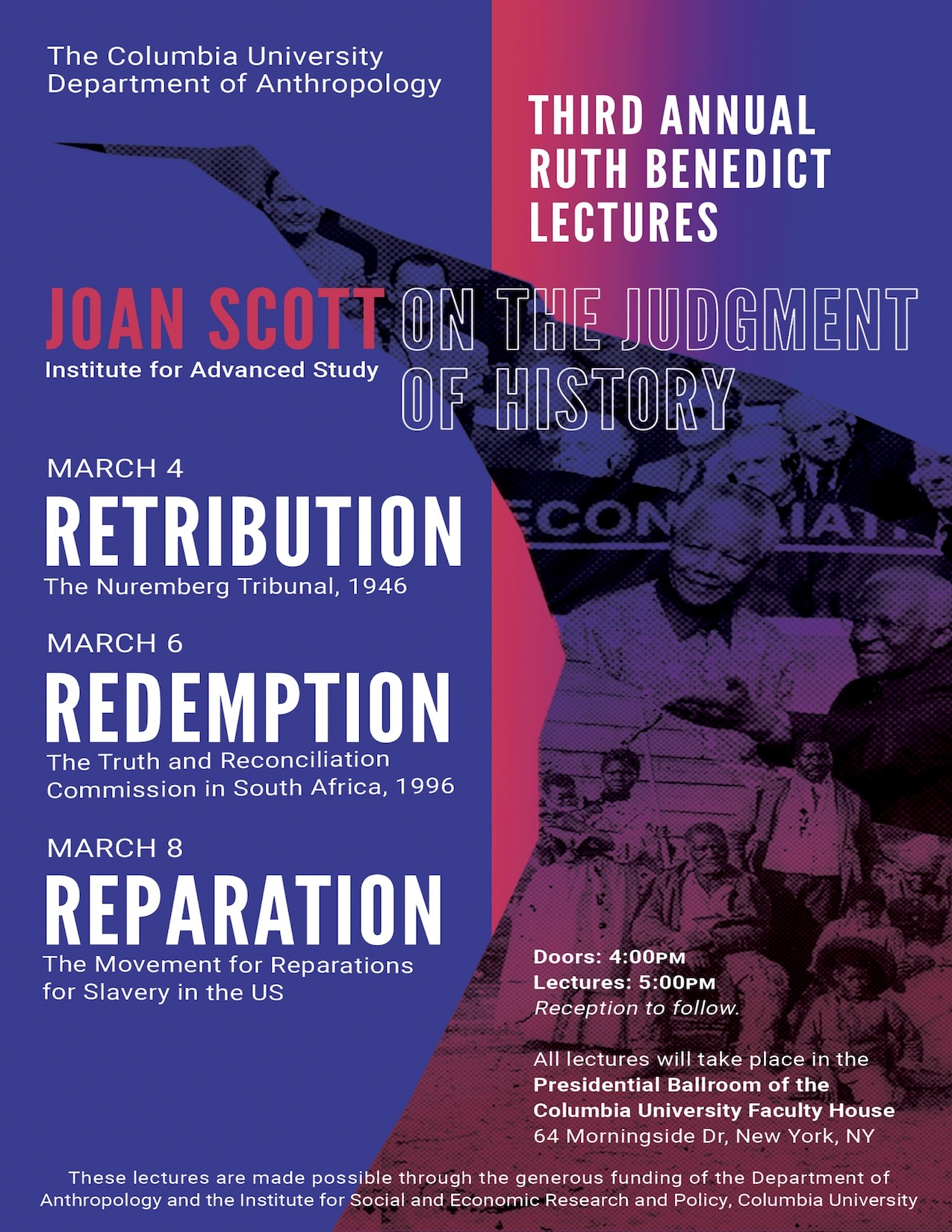 "Event Poster for Joan Scott's ""On the Judgment of History"""