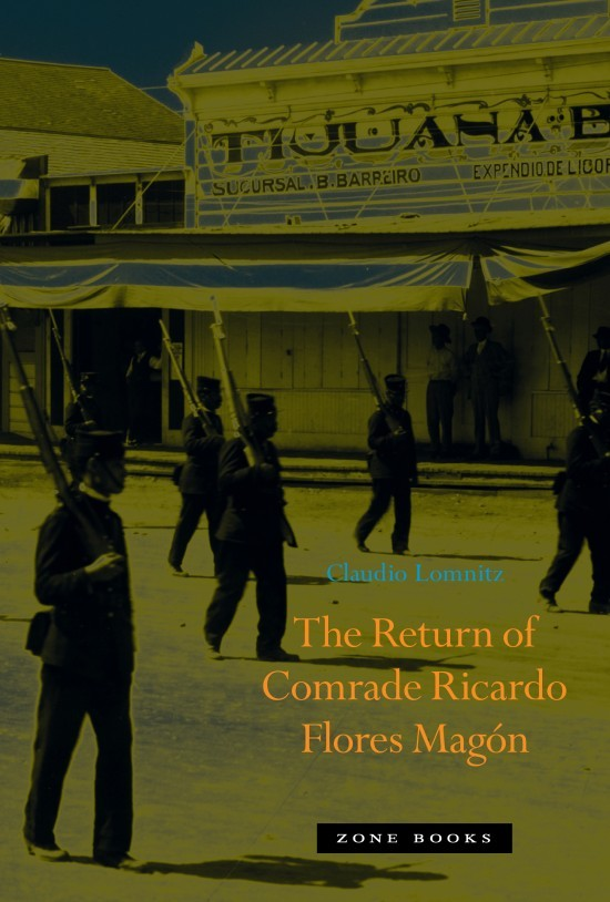 Book cover depicting a procession of soldiers in Tijuana.