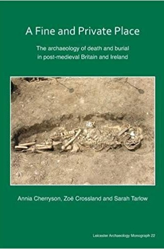 Book cover showing a green background with a centered image of a collection of uncovered skeletal remains.