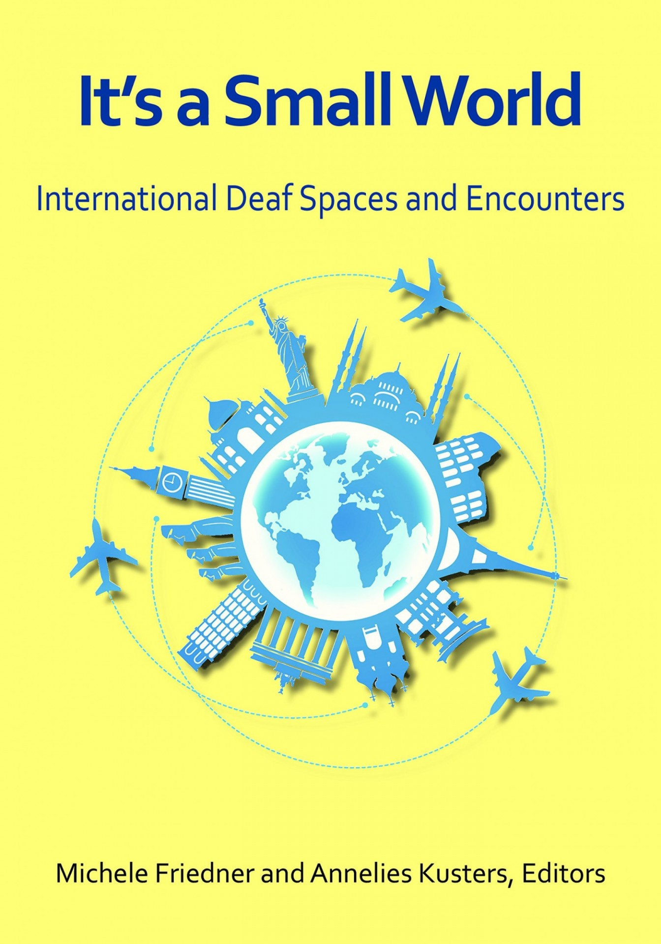 Book cover featuring an artistic rendition of a globe on a yellow background.