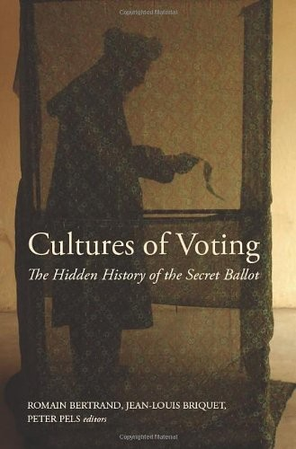 Book cover depicting a shadow of a figure in a voting booth.