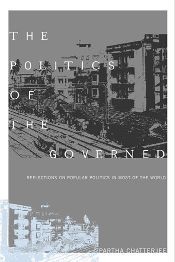 Book cover depicting a high contrast photograph of block of building.