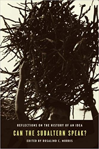 Book cover featuring a figure carrying a bramble over their head.