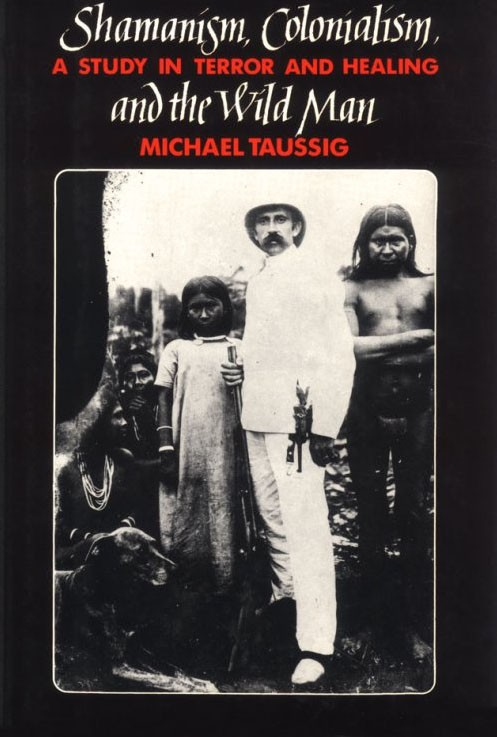 Book cover featuring a black and white photograph of several figures posing.